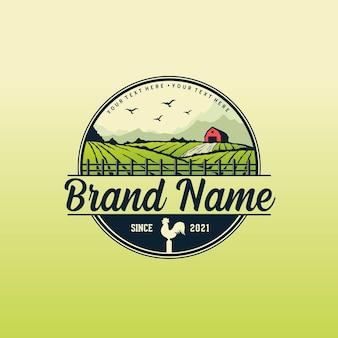 Шаблон логотипа фермы