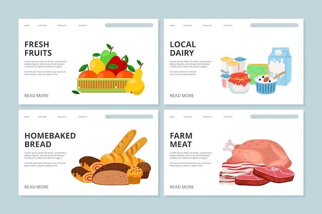 Farm market landing page