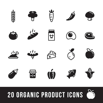 Farm and organic product icons