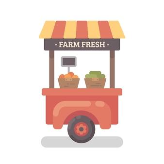 Farm stand flat illustration