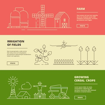 농장 기호 배너입니다. 필드 밀 자연 마을