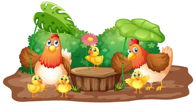 Farm theme background with farm animals