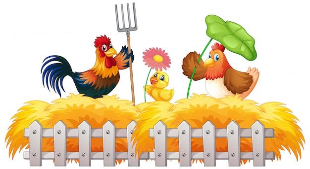 農場の動物と農場のテーマの背景