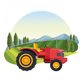 Farm tractor vehicle