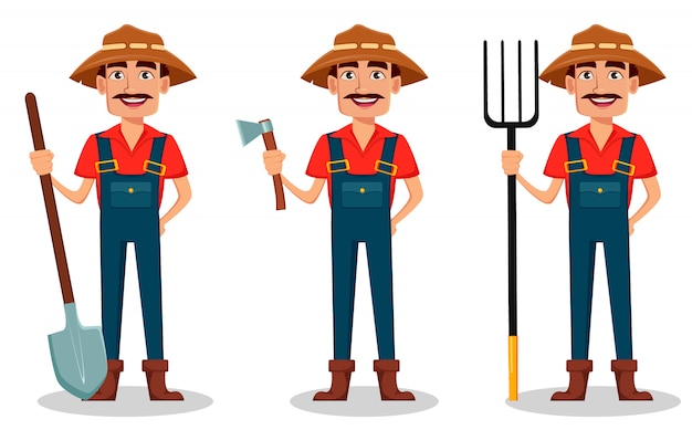 Farmer cartoon character
