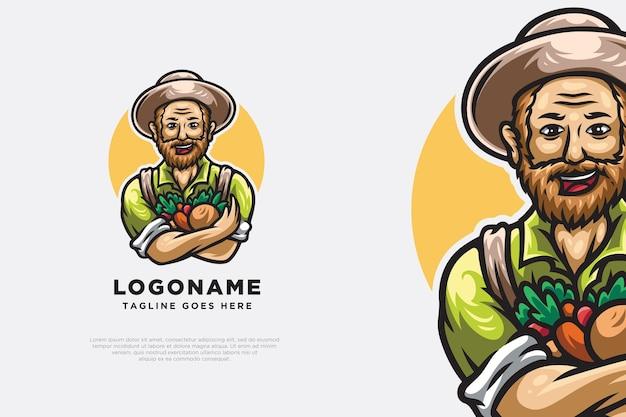 농부 캐릭터 로고 디자인