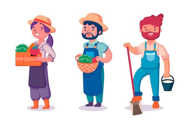 Концепция коллекции фермеров