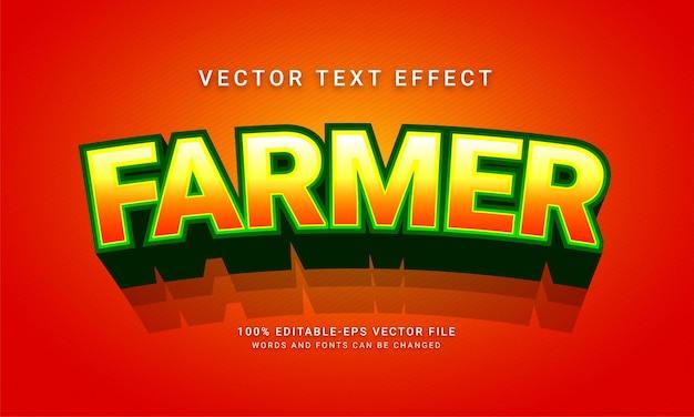 Farmer editable text style effect themed organic