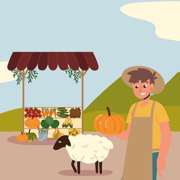農家の新鮮な地元のオーガニック