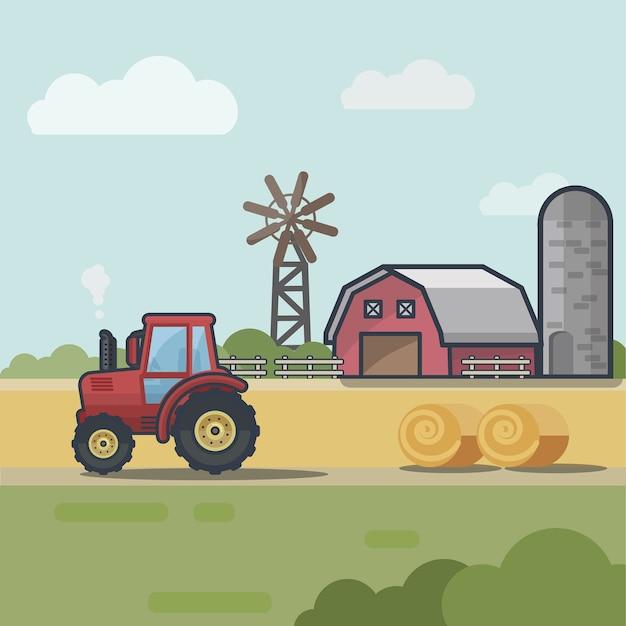 フラットスタイルの農家