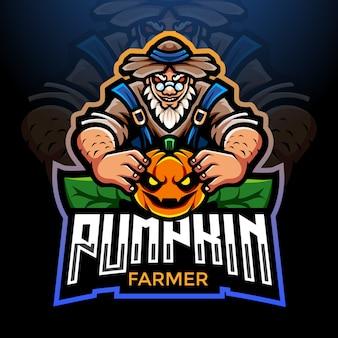 Фермер тыквы дизайн логотипа киберспорта