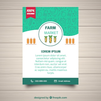 Farmer's brochure with flat design