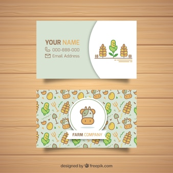 Farmer's business card template