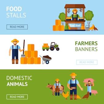 Set di banner di agricoltori