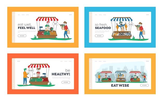 農家は生態学的で健康的な有機食品を販売しています