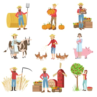 Farmers and their products set