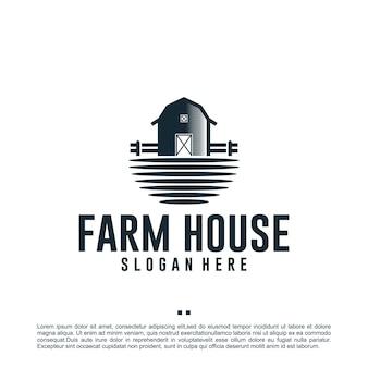 Дом, сарай, шаблон дизайна логотипа