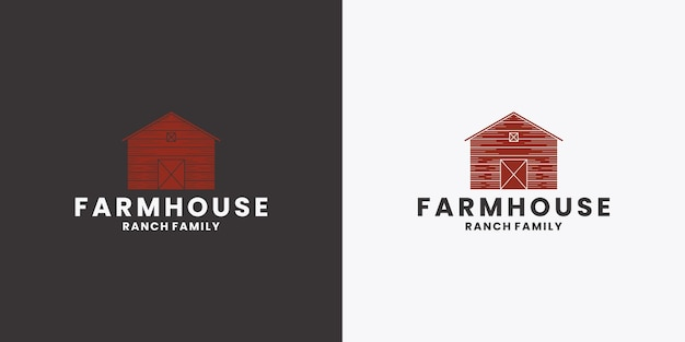 농가 로고 디자인 농업, 가정, 농업