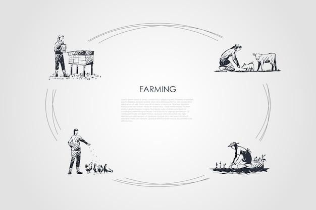 手描きのシクルの農業