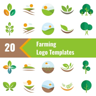 Farming logo templates