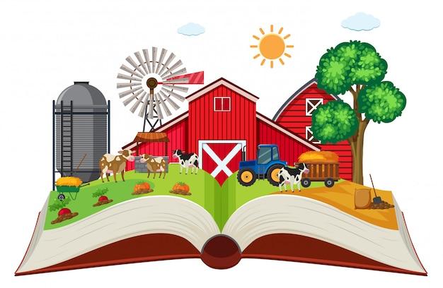 Farmland on open book