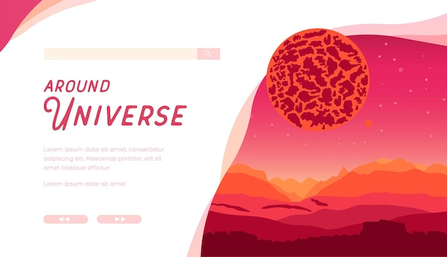 Fascinating galactic landscapes for banner covers, magazines and posters.