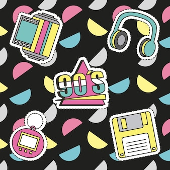 Fashion 90s patches
