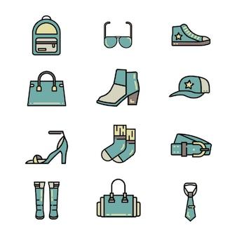 Fashion accessories color line vector eb52453ba9a09