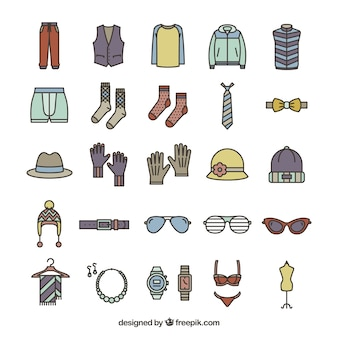 Fashion accessories icons
