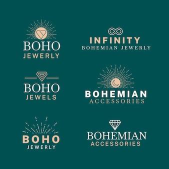 Коллекция шаблонов логотипов модных аксессуаров