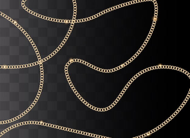 Fashion background with golden chain