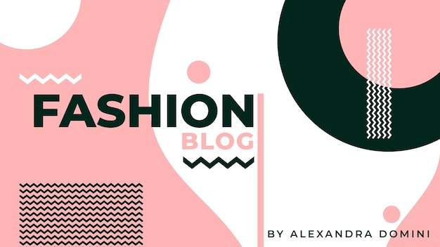 Fashion banner blog