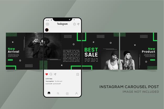 Instagram 원활한 회전 목마 템플릿 패션 배너