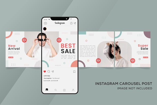 Fashion banner for instagram carousel templates