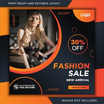 Fashion banner for instagram and social media post template