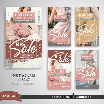 Fashion big sale instagram stories set