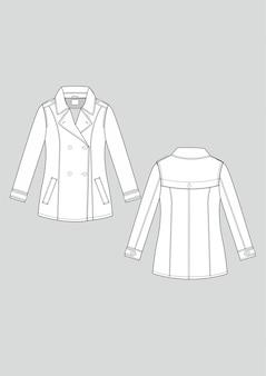 Fashion blazer jacket technical