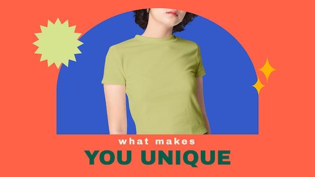 Modello di banner per blog di moda per la collezione di abiti da donna