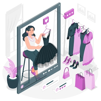 Illustrazione di concetto di fashion blogging