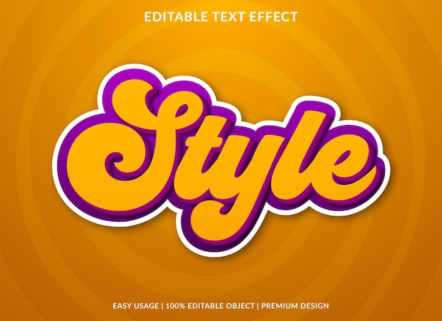 Fashion bold style text effect template