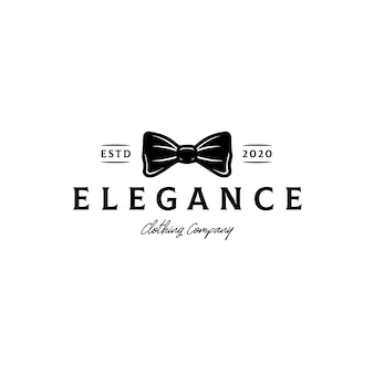 Fashion bow tie logo template