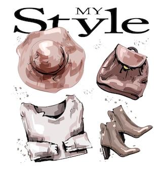 Набор модной одежды