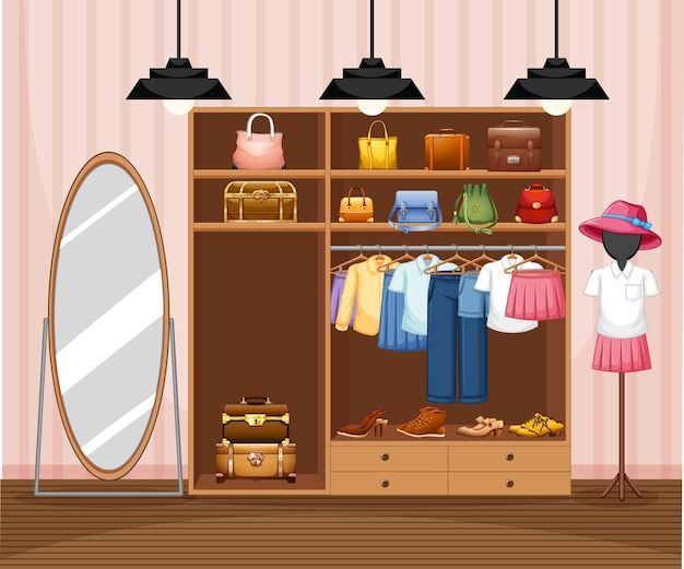 패션 의류 매장 배경