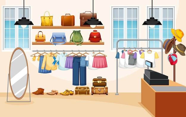 Фон магазина модной одежды