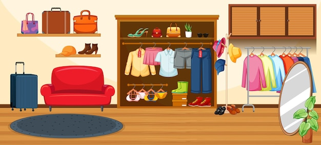 Магазин модной одежды Бесплатные векторы