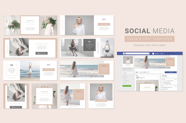 Fashion clothing social media cover & post template