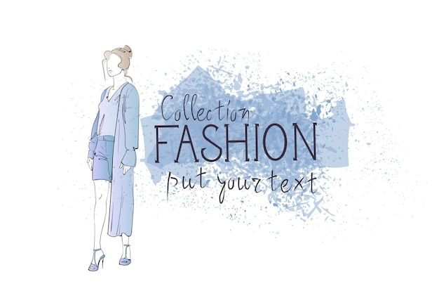 Fashion collection of clothes female