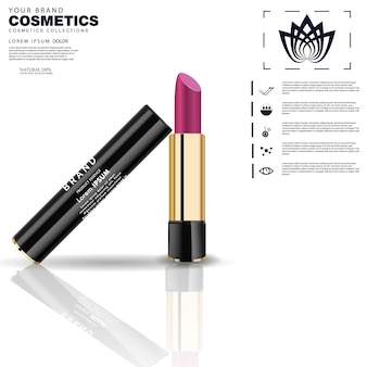 Fashion cosmetic lipstick