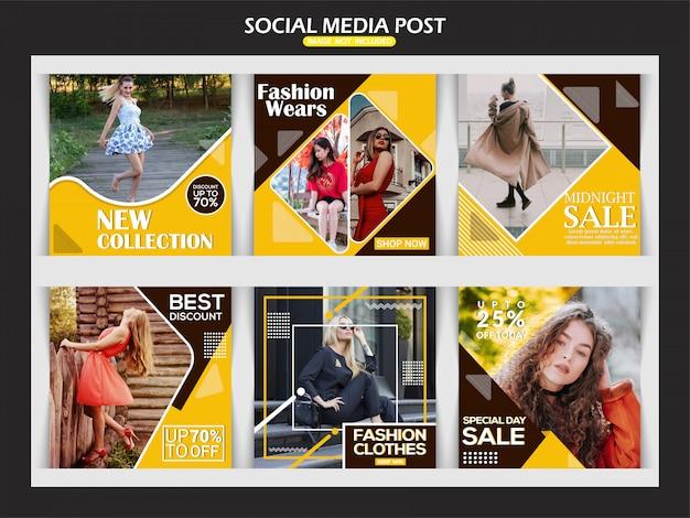 Fashion creative instagram banner template