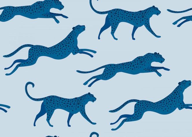 Fashion design leopard print of seamless pattern.